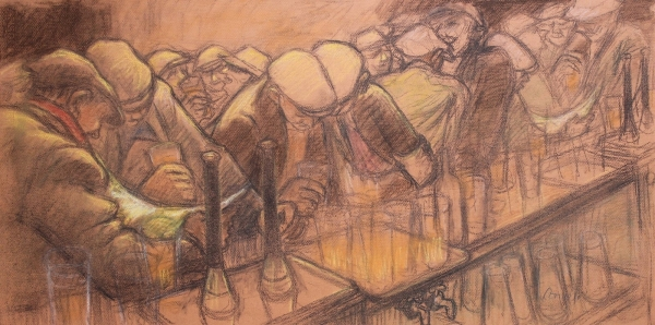 Busy Bar by Norman Cornish