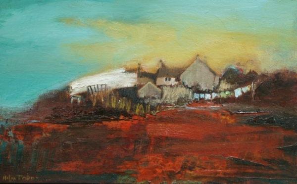 Croft with White Barn, by Helen Tabor