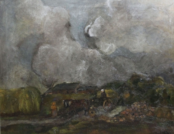 Sheila Fell, Horse and Cart on a Country Road
