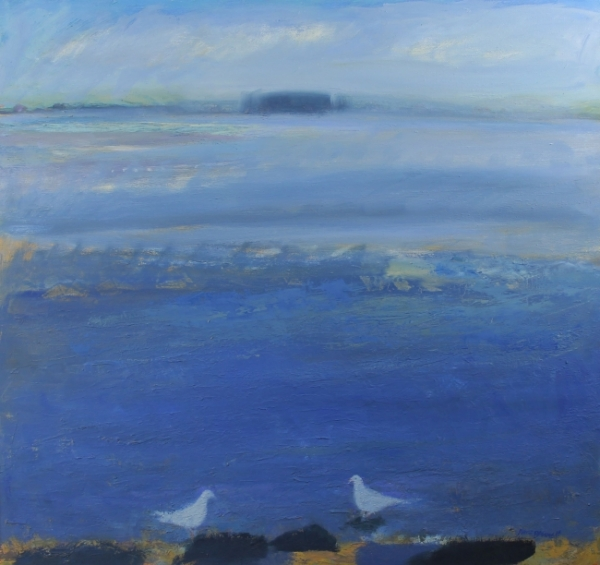 Solway Blue with Two Birds