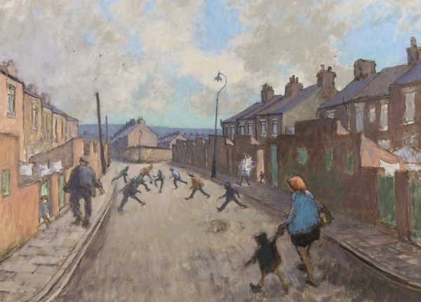 Children Playing by Norman Cornish