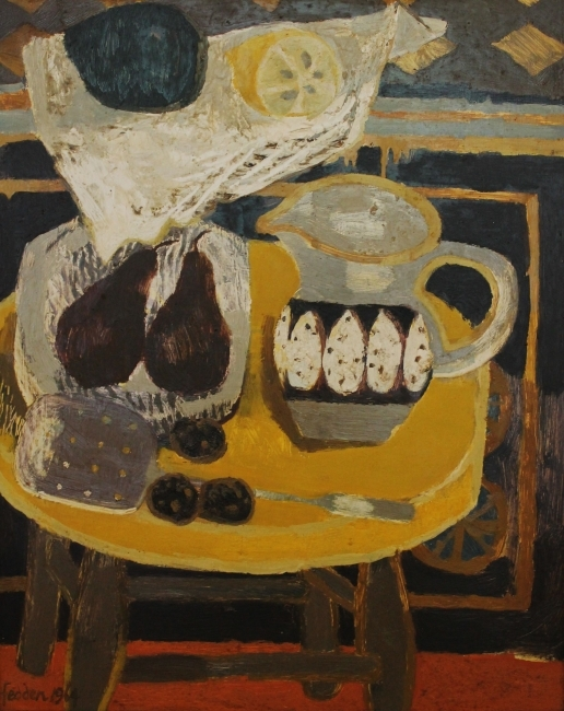 Mary Fedden, The Yellow Stool