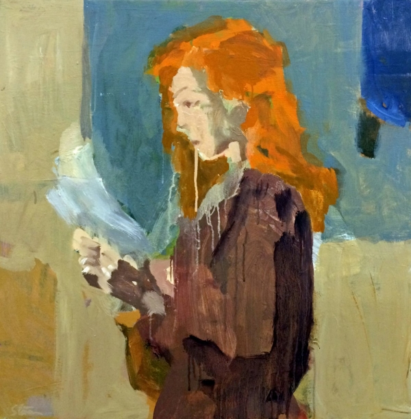 Woman Reading Letter by David Storey