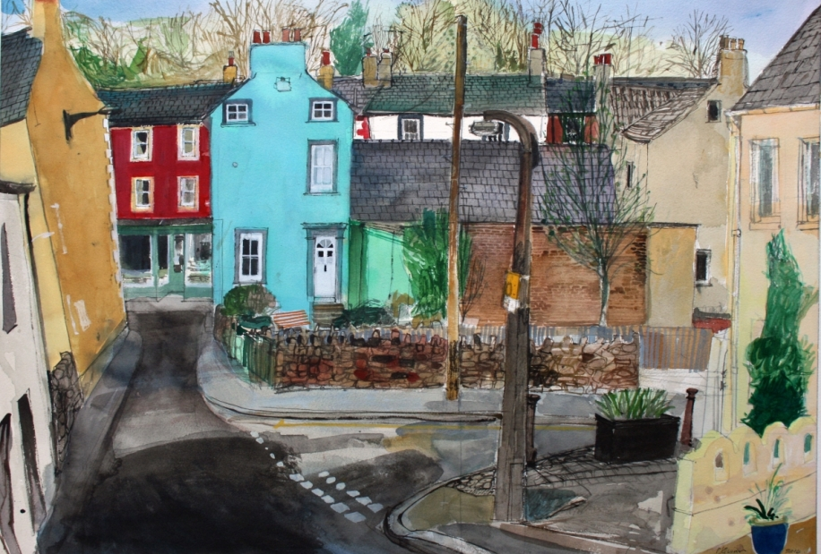 Towards St. Helen's Street, Cockermouth by Peter Quinn