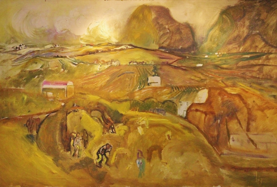 Harvest Cumberland by Sheila Fell RA FRSA