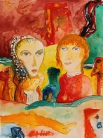 Couple with red hair and scarf