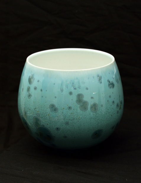 Tapered vase, reef green glaze by John Stroomer
