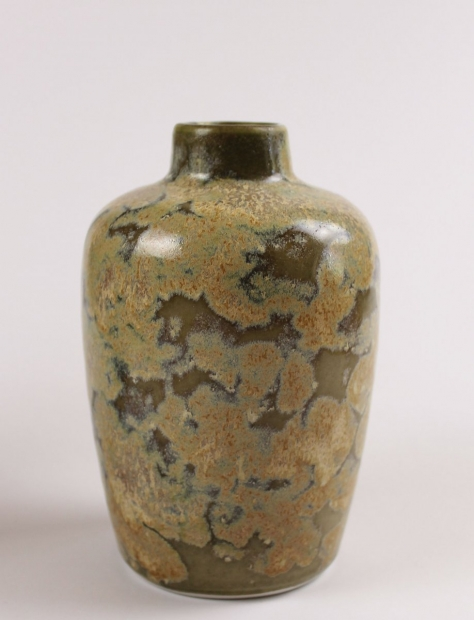 Small Robust Bottle, Iron Glaze by Ivar Mackay