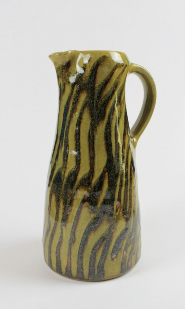 Tapered striped jug by Edward Hughes
