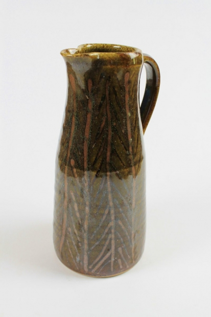 Small line and hatch jug by Edward Hughes