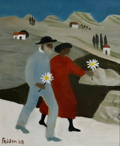 Julian and I, Tuscany by Mary Fedden  RA