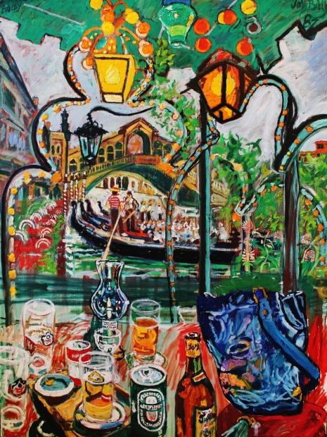 Venetian Afternoon by John Bratby (RA)