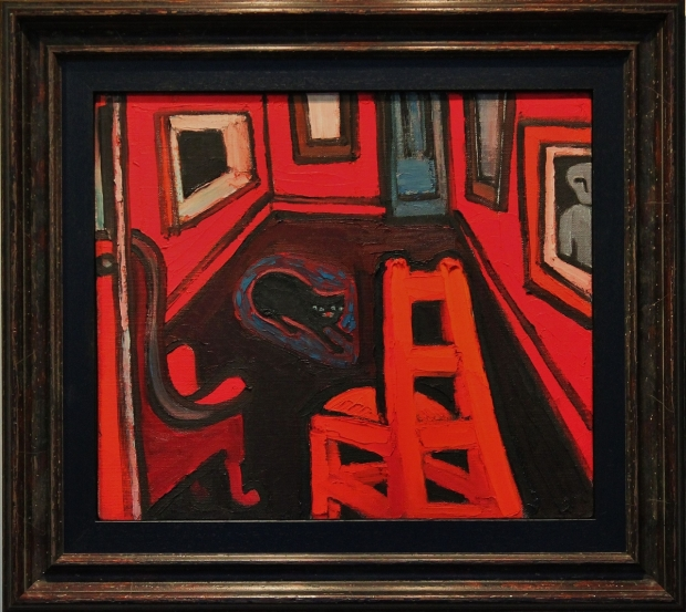 Cat in a Red Interior by Theodore Major