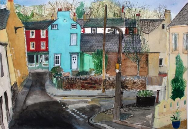 Towards St. Helen's Street, Cockermouth by Peter Quinn