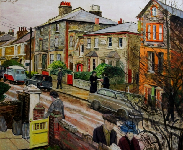 Elsinge Road, Battersea 1970 by Carel Weight RA, CBE