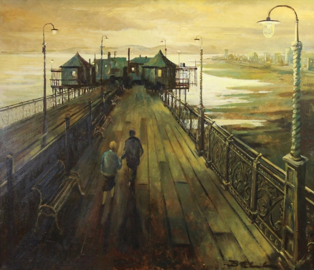 A Stroll on the Pier by Bill Bell
