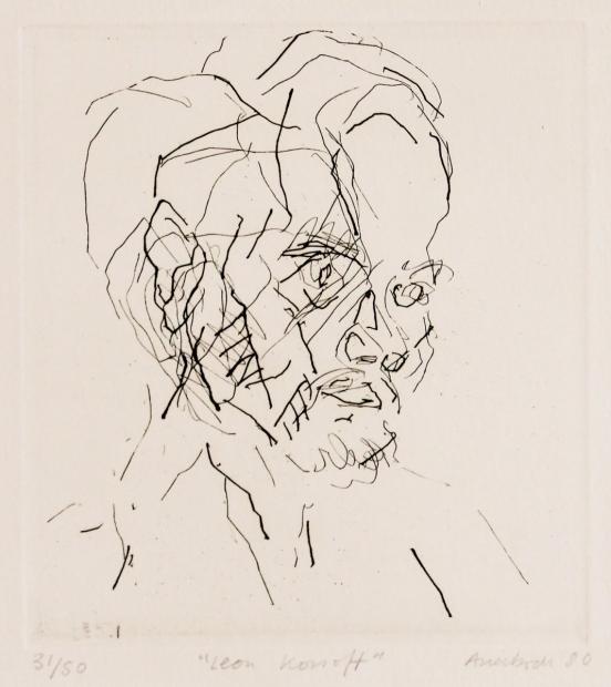 Leon Kossoff by Frank Auerbach