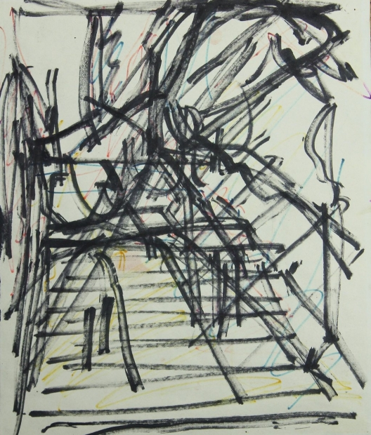 Study for St. Pancras Steps 1978-79 by Frank Auerbach