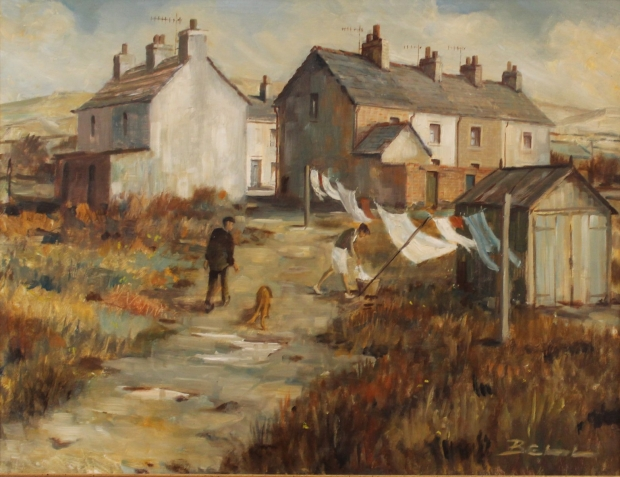 Washing day, Askam by Bill Bell