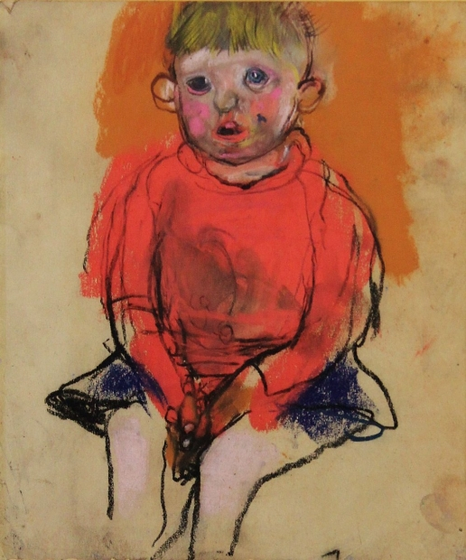 Boy in a red jumper by Joan Eardley (RSA)