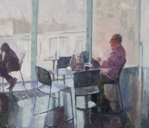 Gallery cafe study by Ceri Allen