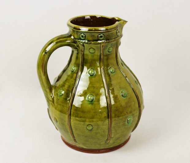 Green sprigged jug by Doug Fitch