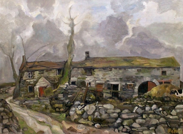 Farm on the Yorkshire Moors by Sheila Fell RA FRSA