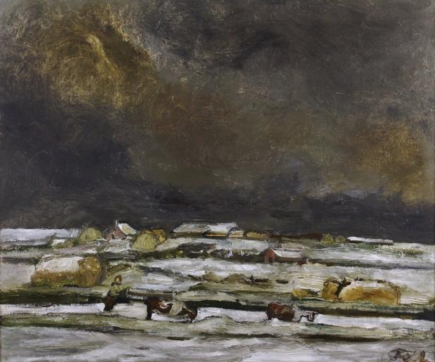 Solway Plain Under Snow by Sheila Fell RA FRSA