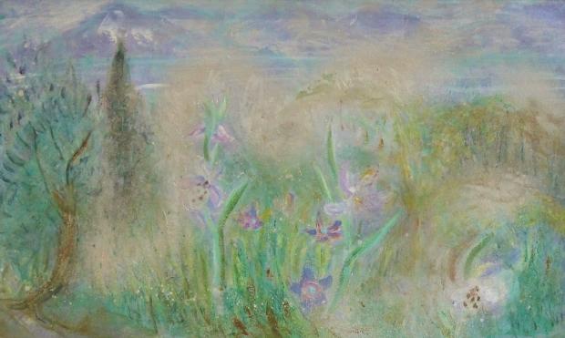 Flowers in a Landscape by Winifred Nicholson