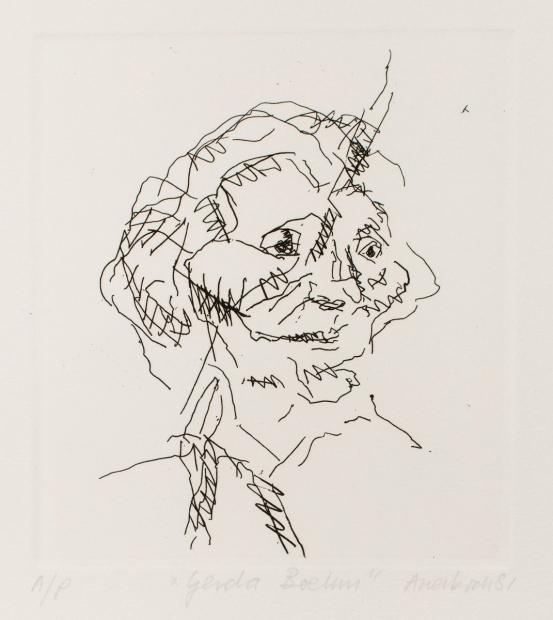 Gerda Boehm 1981 by Frank Auerbach