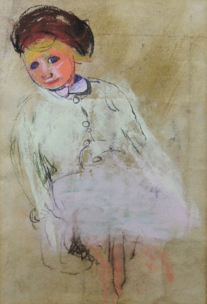 Girl with Chestnut Hair by Joan Eardley (RSA)