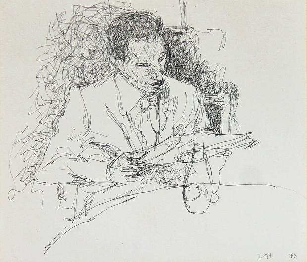Restaurant sketch  by David Hockney RA