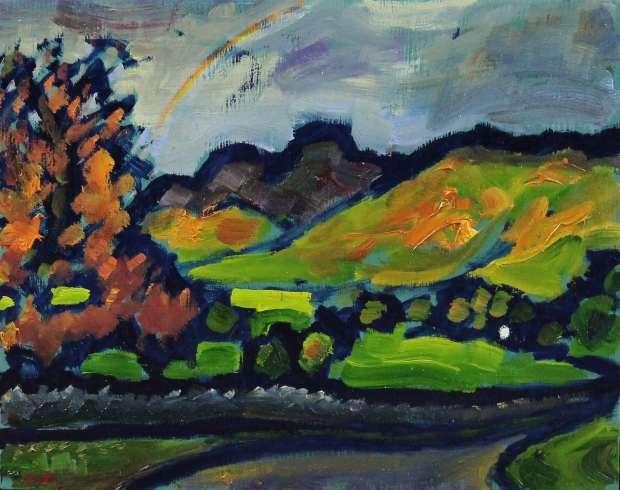 The view from Stacey's farm (Rainbow) - Langdale Series by Malcolm Croft