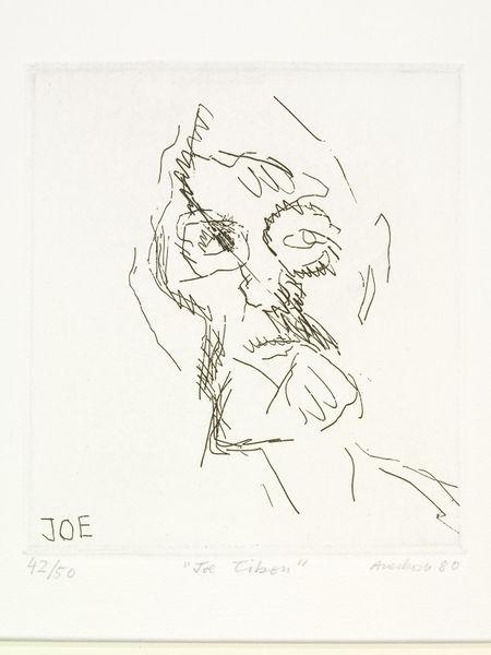 Joe Tilson by Frank Auerbach