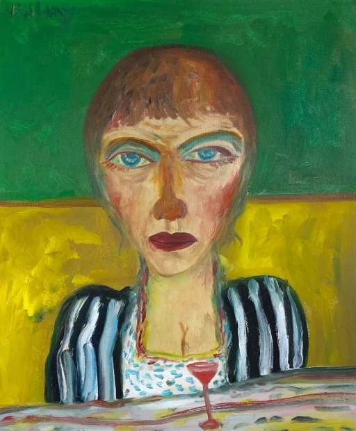 Wine drinker by John Bellany (RA, CBE)