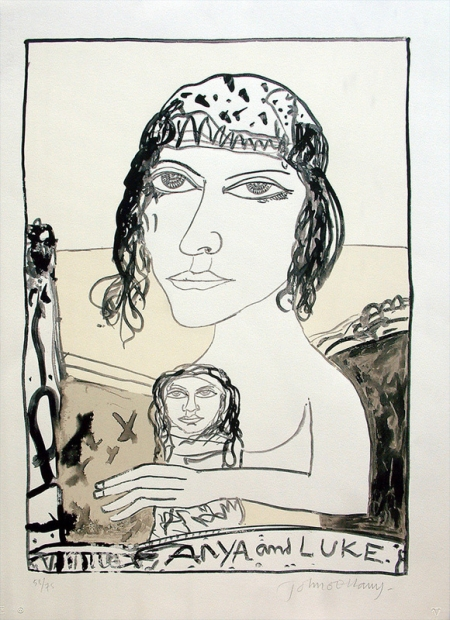 Anya and Luke by John Bellany (RA, CBE)