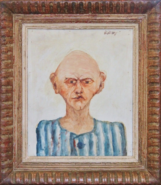 Buchenwald Portrait 1967 by John Bellany (RA, CBE)