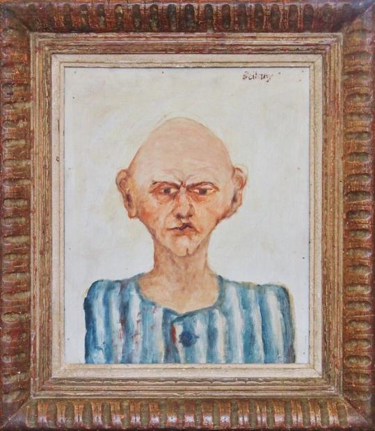 Buchenwald Portrait 1967 by John Bellany (RA, CBE)