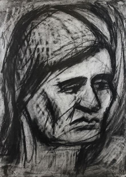 Head of Rosalind by Leon Kossoff