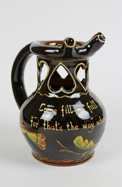Slipware puzzle jug by Hannah McAndrew