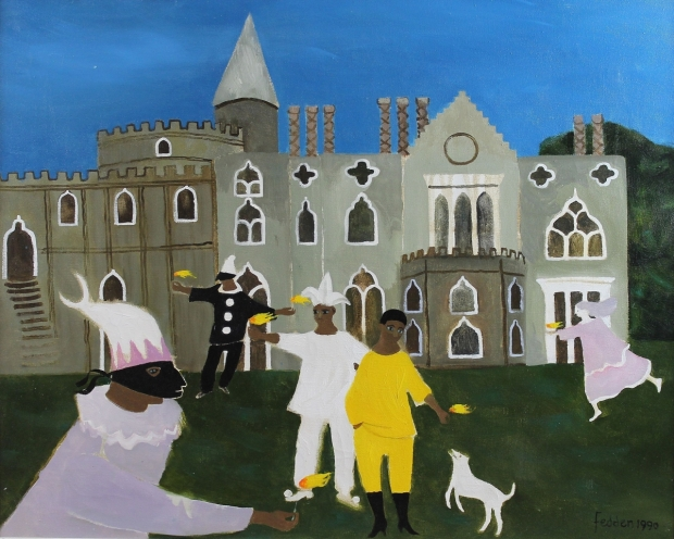 Masque at Strawberry Hill by Mary Fedden  RA