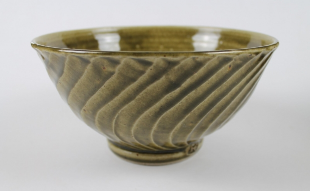 Medium deep spiral bowl by Edward Hughes