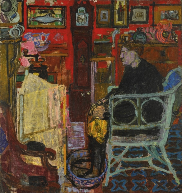 Mrs Red Wallpaper by Joan Eardley (RSA)
