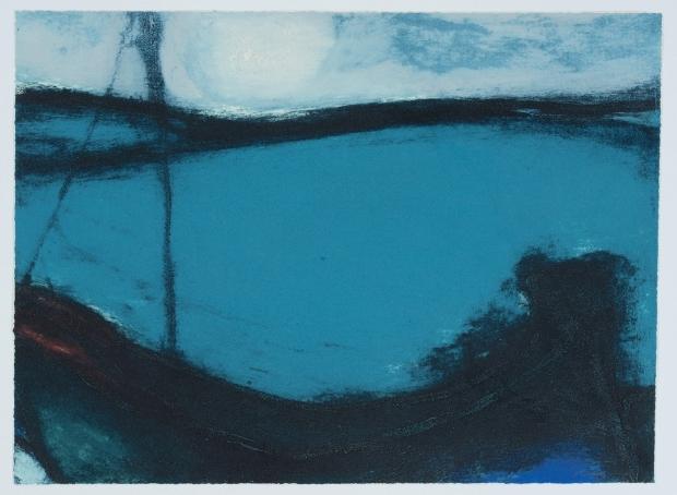 Moonlight marine by Hughie O'Donaghue (RA)