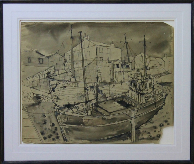 Penzance Fishing Boats by Percy Kelly