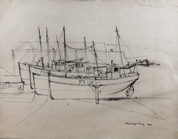 Mevagissey by Percy Kelly