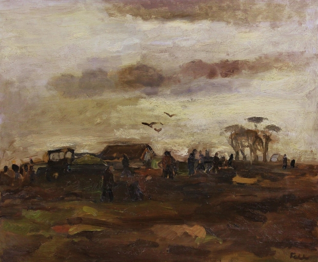 Potato Pickers by Sheila Fell RA FRSA