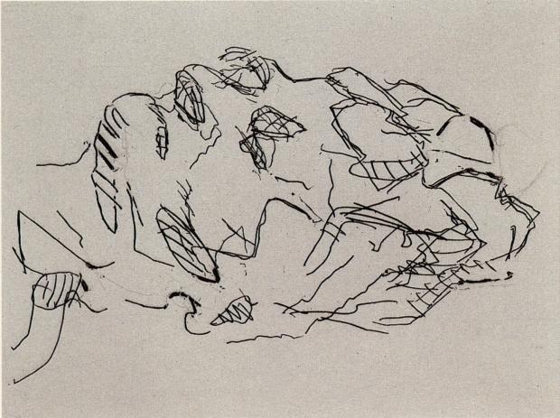 Sleep 2001 by Frank Auerbach