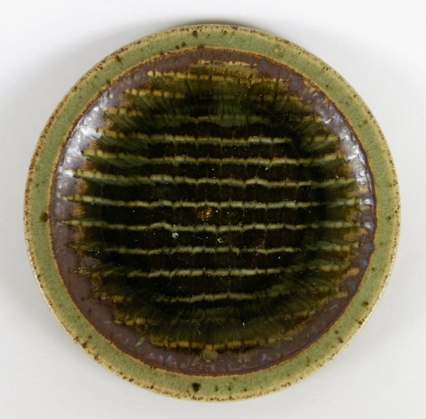 Small feathered dish by Edward Hughes