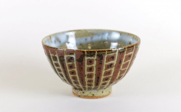 Small squared pattern bowl  by Edward Hughes